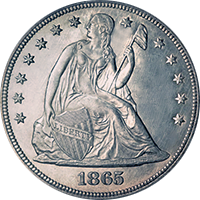 1865 Seated Liberty Dollar