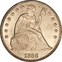 1866 Seated Liberty Dollar