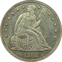 1868 Seated Liberty Dollar