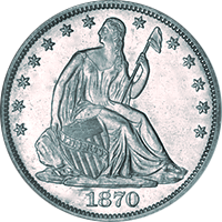 1870 S Seated Liberty Dollar