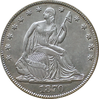 1870 S Seated Liberty Half Dollar