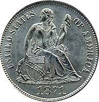 1871 Seated Liberty Dime