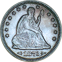 1873 CC Seated Liberty Quarter