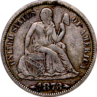 1873 Seated Liberty Dime Value | CoinTrackers