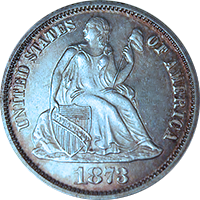 1873 S Seated Liberty Dollar