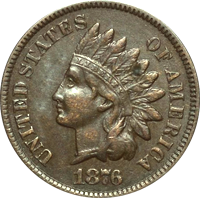 1876 indian head penny value cointrackers