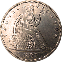 1877 CC Seated Liberty Half Dollar