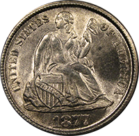 1877 Seated Liberty Dime