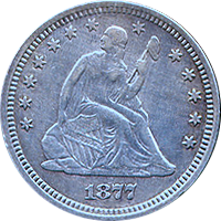 1877 S Seated Liberty Quarter