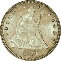 1879 Seated Liberty Quarter