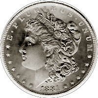 1881 CC Morgan Silver Dollar