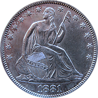 1881 Seated Liberty Half Dollar