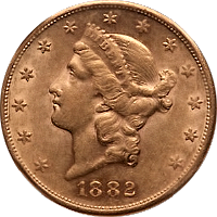 1882 S Liberty Head Double Eagle