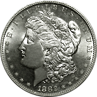 1882 S Morgan Silver Dollar