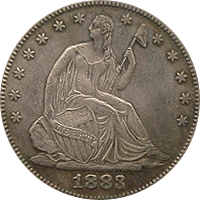 1883 Seated Liberty Half Dollar