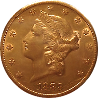 1883 S Liberty Head Double Eagle