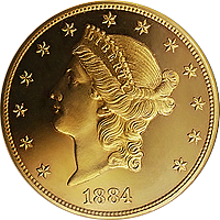 1884 Liberty Head Double Eagle