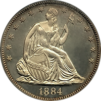1884 Seated Liberty Half Dollar