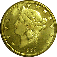 1885 CC Liberty Head Double Eagle