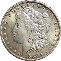 1886 O Morgan Silver Dollar