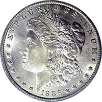 1886 S Morgan Silver Dollar