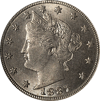 1887 Liberty Head V Nickel