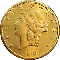 1887 S Liberty Head Double Eagle