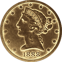 1888 Liberty Head Half Eagle