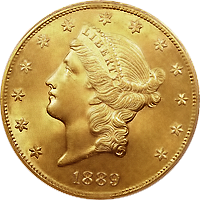 1889 CC Liberty Head Double Eagle