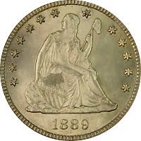 1889 Seated Liberty Quarter