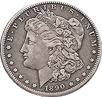 1890 Morgan Silver Dollar Value | CoinTrackers