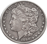 1890 O Morgan Silver Dollar