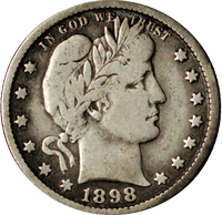 1898 Barber Quarter Value | CoinTrackers