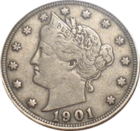 1901 Liberty Head V Nickel