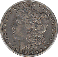 1901 S Morgan Silver Dollar