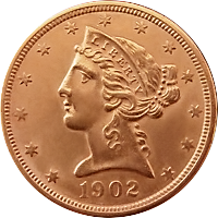 1902 Liberty Head Half Eagle