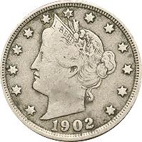 1902 Liberty Head V Nickel Value | CoinTrackers