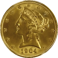 1904 Liberty Head Half Eagle