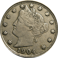 1904 Liberty Head V Nickel