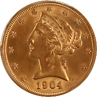 1904 S Liberty Head Half Eagle