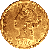 1906 D Liberty Head Half Eagle
