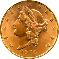1906 Liberty Head Double Eagle