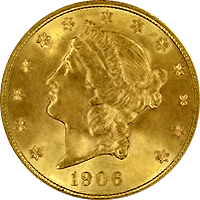 1906 S Liberty Head Double Eagle