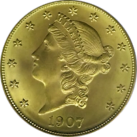1907 D Liberty Head Double Eagle