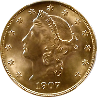 1907 Liberty Head Double Eagle