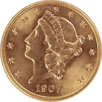 1907 S Liberty Head Double Eagle