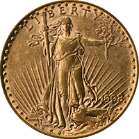 1908 D St Gaudens Double Eagle