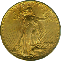 1909 D St Gaudens Double Eagle