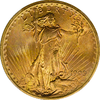 1909 S St Gaudens Double Eagle