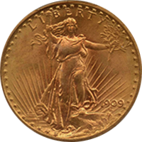 1909 St Gaudens Double Eagle